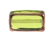 Glass Lamp Bead Rectangle 18x10x6mm Olivine/Bronze